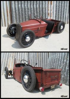 Pedal car rat rod