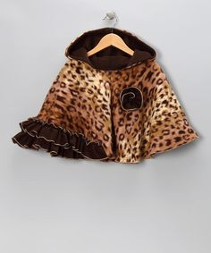 Take a look at this Brown Leopard Faux Fur Poncho - Infant, Toddler & Girls by Safari Style: Kids' Apparel & Shoes on #zulily today!
