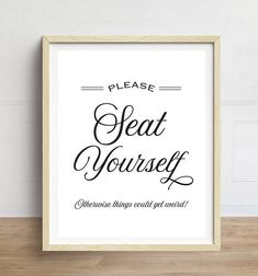 funny bathroom art please seat yourself bathroom wall art bathroom quotes black and white typography print - Bathroom Quotes