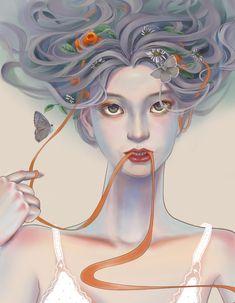 山花烂漫的季节 on Behance Appreciation, Princess Zelda, Illustration, Creative, Fictional Characters, Art, Craft Art, Illustrations, Kunst