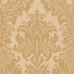 "Traditional 33' x 20.8"" Grand Floral Damask Wallpaper 
