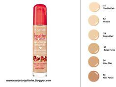 bourjois healthy mix foundation shades