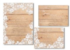 Lace wedding invitations Detailed beautiful by DesignedWithAmore