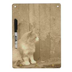 Sahara Cat in Sepia Dry Erase Board from Zazzle.com