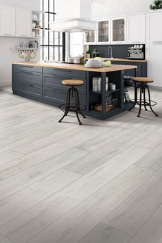 Grey Kitchen Flooring Inspiration Our Denali Oak floors feature a sophisticated&; Grey Kitchen Flooring Inspiration Our Denali Oak floors feature a sophisticated&; Jennyfer Bechtelar floors with oak cabinets Grey Kitchen […] step laminate Flooring Home Decor Kitchen, Kitchen Living, Kitchen Interior, Interior Modern, Modern Luxury, Kitchen Ideas, Grey Kitchen Floor, Best Kitchen Flooring, Home Flooring