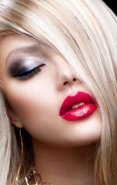 Most Beautiful Faces, Beautiful Lips, Beautiful Women, Sexy Makeup, Hair Makeup, Pink Lips, Red Lipsticks, Lipstick Colors, Woman Face