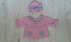 Háčkovaný svetrík a čapica pre malè parádnice