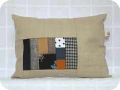 Great patchwork pillow.