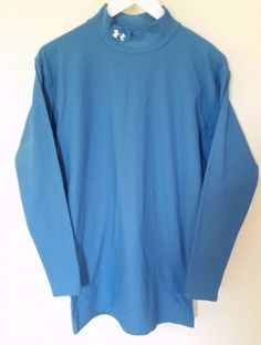 Men's Under Armour Teal Long Sleeve Cold gear Compression Shirt Sz XXL 2XL Blue #UnderArmour #ShirtsTops
