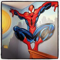 Spiderman mural MemeHill.com