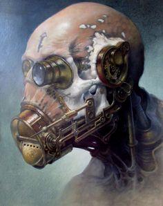 "steampunktendencies: ""First, the most recent painting by Dariusz Zawadzki """