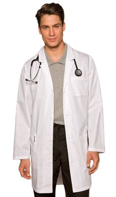 Every stain may be a badge of honor, but sometimes you just have to start over! Dickies Everyday Scrubs Unisex Lab Coat - 65% Polyester, 35% Cotton Poplin #Lab_Coat #Dickies | allheart.com