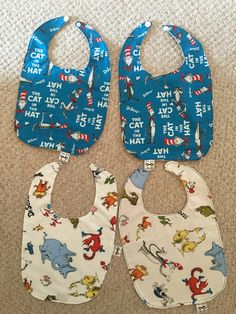 A personal favorite from my Etsy shop https://www.etsy.com/listing/263069419/four-baby-bibs-themed