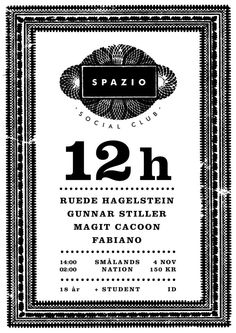 Spazio Social Club poster by Jakob Warg & Josef Ruona Club Poster, Social Club, Posters, Student, Design, Poster, Postres, College Students