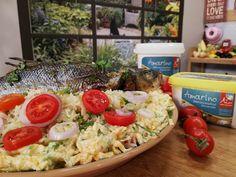 Λαυράκι στο φούρνο με ρύζι basmati Cobb Salad, Food, Essen, Meals, Yemek, Eten