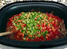 Paleo Crockpot Chili Recipe, doubled the recipe except onion crushed tomato and jalapeno, left out the tomato sauce. Delicious!