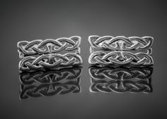 Tain Silver - Celtic Knot Cufflinks http://tainsilver.com