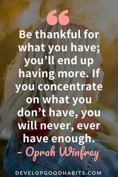 Quotes on Being Thankful