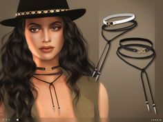 The Sims Resource: Doe Chokers by toksik • Sims 4 Downloads