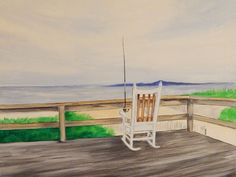 Day at the Beach by Ed Capeau Painting Print on Wrapped Canvas