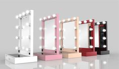 A specially designed Table Top Mirror is made to provide the maximum image reflection. Our one of a kind, best-selling mirror features 10 safe illuminating LED bulbs, which provide sufficient brightness for any make-up application.
