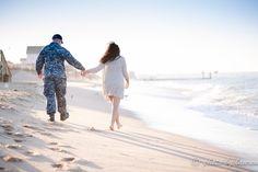 Engagement, Beach Photoshoot, Military Engagement