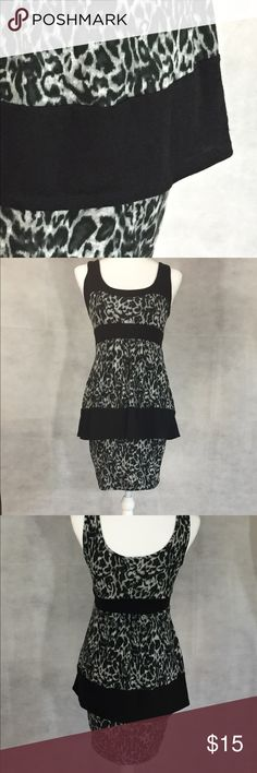 Dress Black and white leopard spotted dress. Dresses Midi