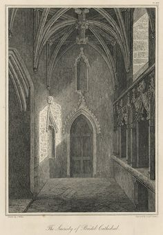 Bristol Cathedral Sacristy, 1825