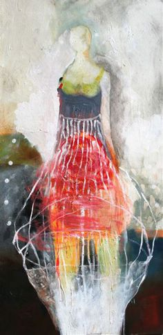 Brigitte McReynolds - Internal Reflection - Oil on Panel, 48 x 24Internal Reflection