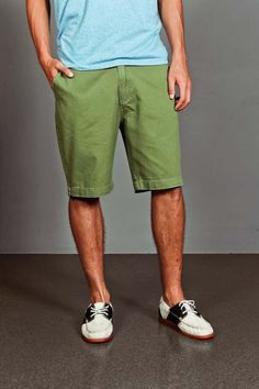 Clean Front Washed Chino Short