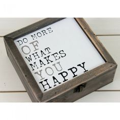 'Do More Of What Makes You Happy' Box - Lily and Moor