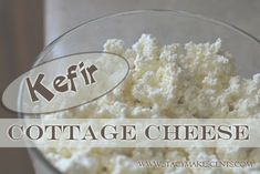 Kefir Cottage Cheese - tried it - result is a tangy spreadable cheese, with a ricotta like consistency Kefir Recipes, No Dairy Recipes, Cheese Recipes, Real Food Recipes, Yogurt Recipes, Kefir Yogurt, Kefir Milk, Kombucha, Diet Recipes