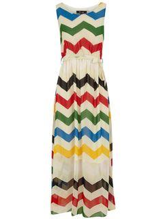 Dorothy Perkins  Beige zigzag maxi dress