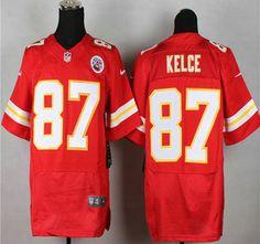Nike Kansas City Chiefs Jersey 87 Travis Kelce Red Elite Jerseys Red Team cfda78f38