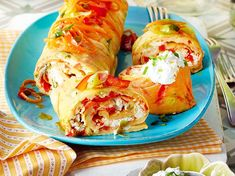 Ofenpfannkuchen mit Gemüse & Feta Rezept | LECKER