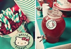 {Red & Teal} Hello Kitty Birthday Party // Hostess with the Mostess®