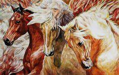 Golden Autumn Trio / Goldener Herbst Trio Jana Fox & Oleg Dyck [J&O Art Studio Cologne] 43.3 '' X 27.5 '' | 110 X 70 Cm Alkyd, acrylic, Oil on canvas | Alkyd, Acryl, Öl auf Leinwand 2015
