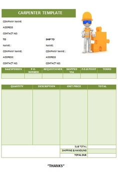 CARPENTER INVOICE TEMPLATE-17