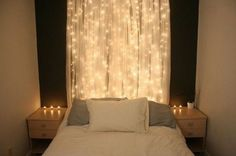Interior, 29 Fancy Christmas Decorating Ideas For Your Interior: Awesome And Simple Bedroom Decorating Ideawith Christmas Lights