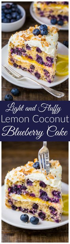 Perfect for Spring baking! This luscious Lemon Coconut Blueberry Cake is bursting with flavor and beauty!