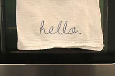 The Good Life Blog | DIY// Iron-on Tea Towels