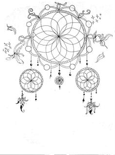 Animal Coloring Pages Dream Catchers | am catcher colouring pages