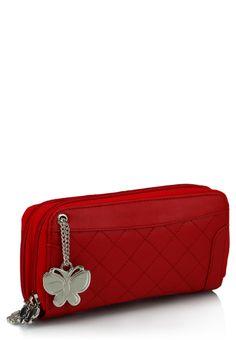 red hot ladies wallet from butterfliesbag