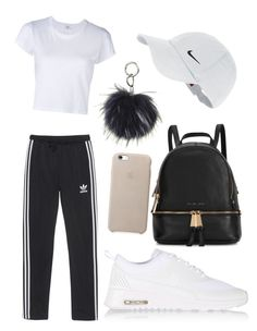 """""""chill & cute"""" by beatriceorholm ❤ liked on Polyvore featuring RE/DONE, NIKE, adidas Originals and Michael Kors"""
