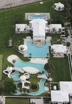 Celine Dion's aquatic home -- It's basically your own personal waterpark, lazy river and all. Because if you're gonna die, you might as well have fun before.