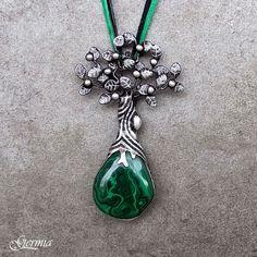 GERMIA - Autorské šperky Flora Design, Design Art, Jewelry Art, Jewellery, Metal Art, Flower Art, Belly Button Rings, Fancy, Pendant Necklace