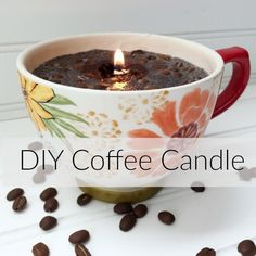 Diy coffee cup candles sweet cayenne soy candle making instructions how to make a coffee candle with how to make soy candles so easy how… Diy Candles Scented, Oil Candles, Aromatherapy Candles, Homemade Candles, Candle Wax, Lavender Candles, Beeswax Candles, Soy Candle, Coffee Candle