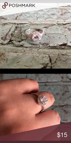⚪️5 For 25$ NWOT Pretty Cz Ring / Costume Jewelry Never worn!! Very pretty Cz Ring!! This is NOT real silver! Shows in price 👍🏻 Everything comes from a Pet free Smoke free home Thanks for stopping!!! 😁💕💐 Jewelry Rings