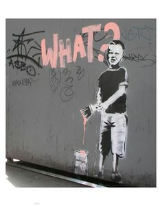 Amazing Graffiti Art by Banksy Banksy Graffiti, Banksy Prints, Bansky, Urban Art, Street Art, Photo And Video, Cool Stuff, Gallery, Artwork