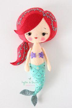 Mermaid Doll, Baby Gift, Mermaid Nursery, Mermaid Toddler Gift, Girls Gift, Handmade Doll Mermaid Pl